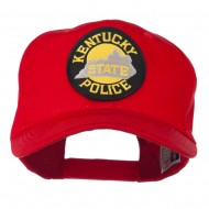 Kentucky State Police Patched High Profile Cap - Red