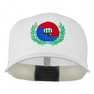 Tae Kwon Do Fist Embroidered Flexfit Cap - White