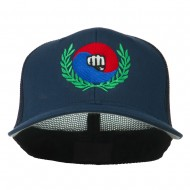 Tae Kwon Do Fist Embroidered Flexfit Cap - Navy