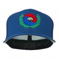 Tae Kwon Do Fist Embroidered Flexfit Cap - Royal