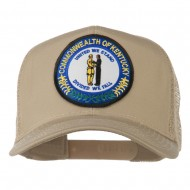 Kentucky State Patched Mesh Cap - Khaki