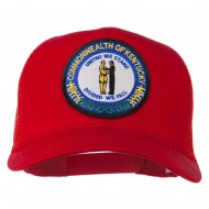 Kentucky State Patched Mesh Cap - Red