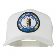 Kentucky State Patched Mesh Cap - White