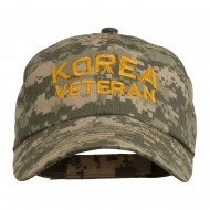 Korea Veteran Embroidered Enzyme Washed Cap - Digital Camo