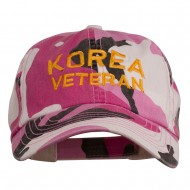 Korea Veteran Embroidered Enzyme Washed Cap - Pink