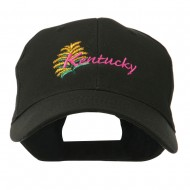USA State Flower Kentucky Goldenrod Embroidered Cap - Black
