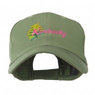 USA State Flower Kentucky Goldenrod Embroidered Cap - Olive