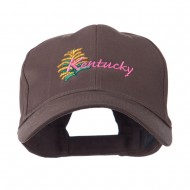 USA State Flower Kentucky Goldenrod Embroidered Cap - Brown