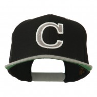 Large C Outline Embroidered Cap - Black Silver