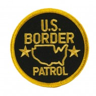 Law Enforcement Embroidered Military Patch - Border