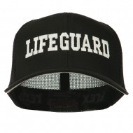 Life Guard Embroidered Flexfit Mesh Cap - Black