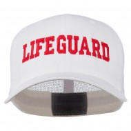 Life Guard Embroidered Flexfit Mesh Cap - White