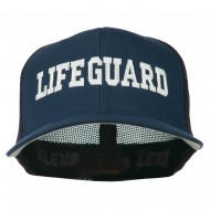 Life Guard Embroidered Flexfit Mesh Cap - Navy