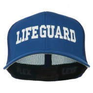 Life Guard Embroidered Flexfit Mesh Cap - Royal