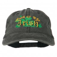 Luck O' the Irish Embroidered Pigment Dyed Cap - Black
