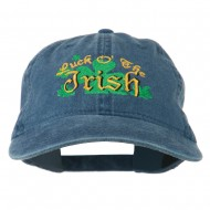 Luck O' the Irish Embroidered Pigment Dyed Cap - Navy
