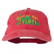 Luck O' the Irish Embroidered Pigment Dyed Cap - Red
