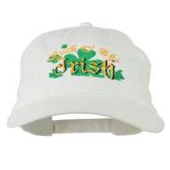 Luck O' the Irish Embroidered Pigment Dyed Cap - White