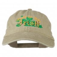 Luck O' the Irish Embroidered Pigment Dyed Cap - Khaki