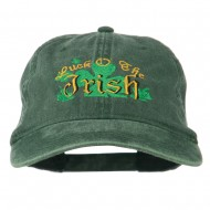 Luck O' the Irish Embroidered Pigment Dyed Cap - Dk Green