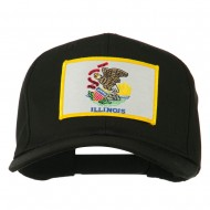 Eastern State Illinois Embroidered Patch Cap - Black