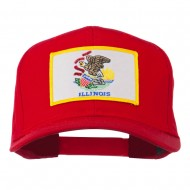 Eastern State Illinois Embroidered Patch Cap - Red