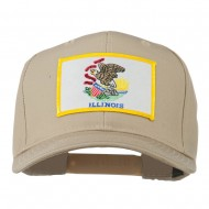 Eastern State Illinois Embroidered Patch Cap - Khaki