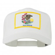 Eastern State Illinois Embroidered Patch Cap - White