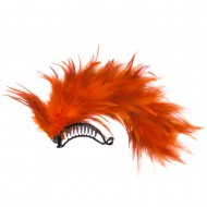 Ladies Feather Hair Clip - Orange