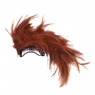 Ladies Feather Hair Clip - Natural