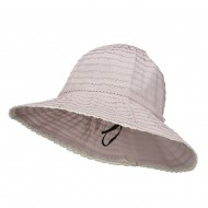 Crushable Bucket Hat With Flower Accent - Pink