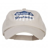 Stand Salute Embroidered Pet Spun Cap - Stone