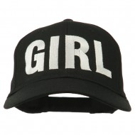Girl Hip Hop Embroidered Cotton Twill Cap - Black