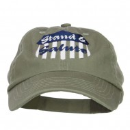 Stand Salute Embroidered Pet Spun Cap - Olive