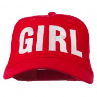 Girl Hip Hop Embroidered Cotton Twill Cap - Red