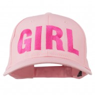 Girl Hip Hop Embroidered Cotton Twill Cap - Pink