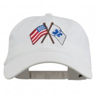 Flags Star of Life Embroidered Washed Cap - White