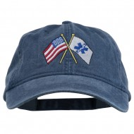 Flags Star of Life Embroidered Washed Cap - Navy