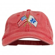 Flags Star of Life Embroidered Washed Cap - Red