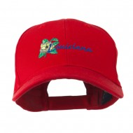 USA State Louisiana Southern Magnolia Embroidery Cap - Red