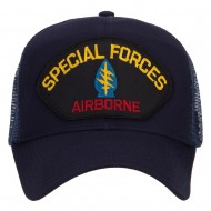 Special Forces Airborne Patched Mesh Cap - Navy