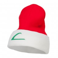 Ash Ketchum League Expo Embroidered Cuff Beanie - Red White