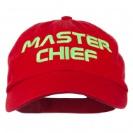 Halloween Master Chief Embroidered Pet Spun Cap - Red