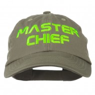 Halloween Master Chief Embroidered Pet Spun Cap - Olive