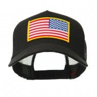 5 Panel Mesh American Flag Patch Cap - Right Star