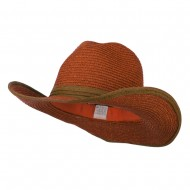 Metallic Women's Paper Cowboy Hat - Copper