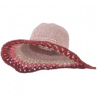 Multi Color Edge Wired Brim Hat - Pink