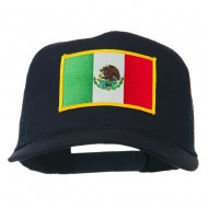 Mexico Flag Patched Mesh Cap - Navy