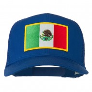 Mexico Flag Patched Mesh Cap - Royal
