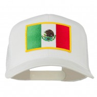 Mexico Flag Patched Mesh Cap - White